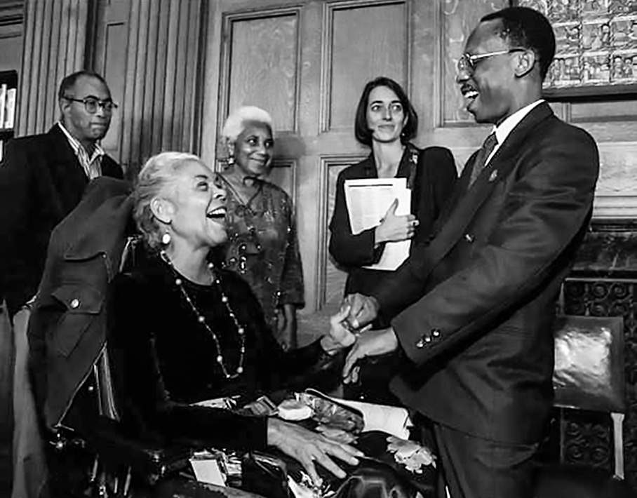_1996_Kiilu Nyasha & Pres Jean-Bertrand Aristide of Haiti